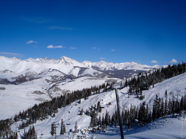 Top of Paradise chair view, Crested Butte, Colorado