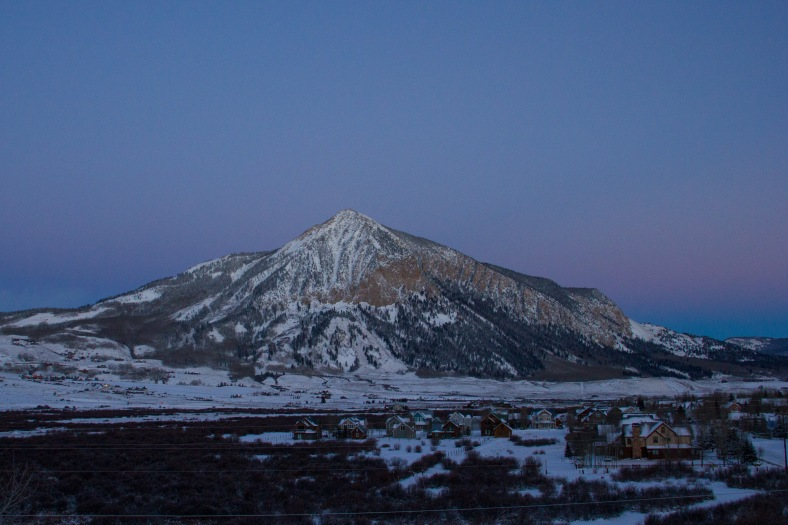Mt. Crested Butte, Colorado, blue hour mountain