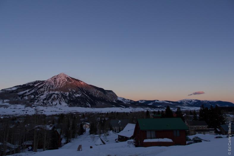 Crested Butte, Colorado, Crested Butte Colorado, alpenglow