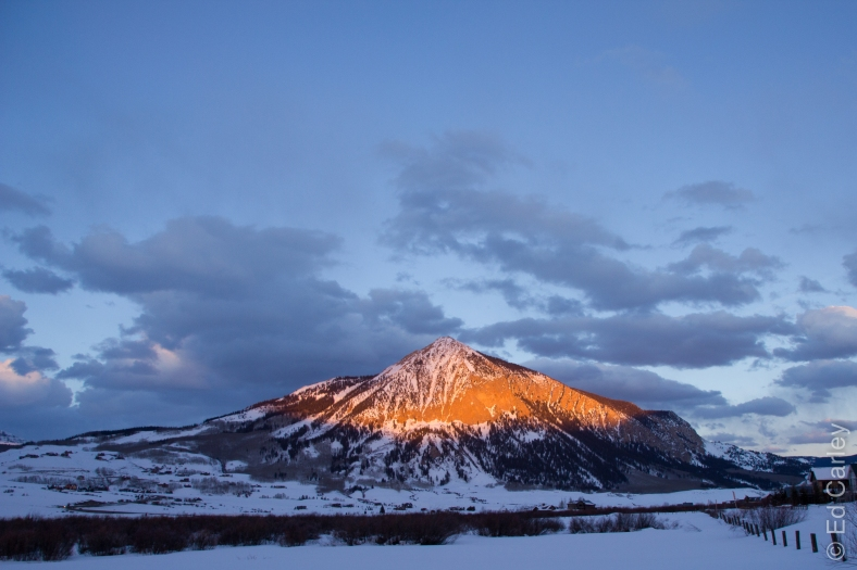 Crested Butte Colorado alpenglow, Crested Butte, Colorado, alpenglow