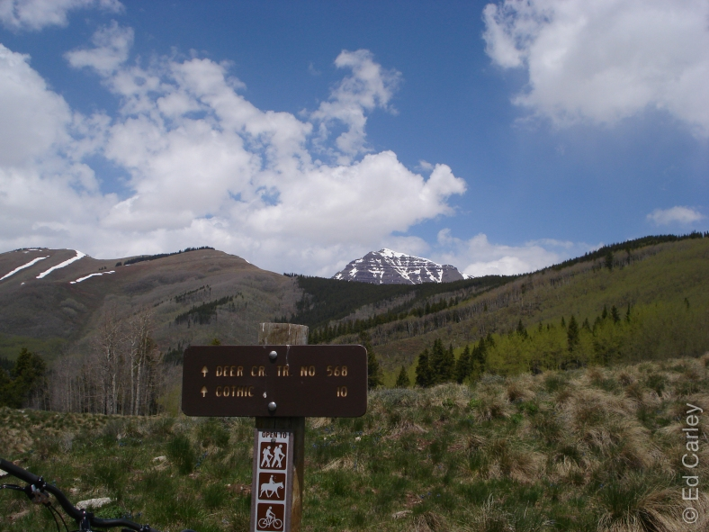 Teocalli mountain, Crested Butte, Colorado, Deer Creek Trail