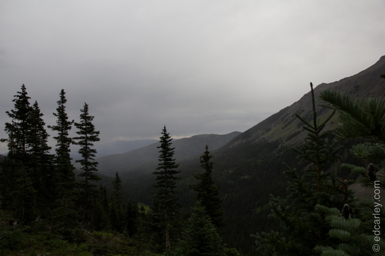 Rainy and over cast on the hike up.