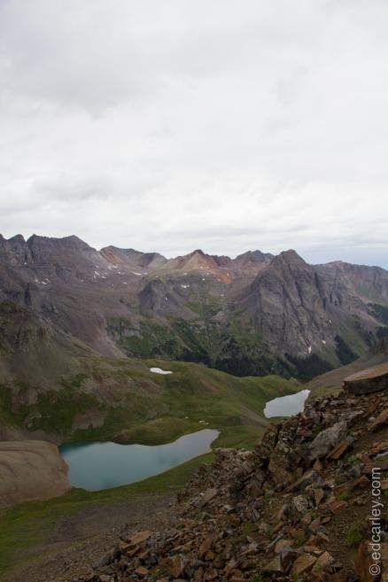 Blue Lakes Pass, Mt. Sneffels, Yankee Boy Basin, Blue Lakes Basin