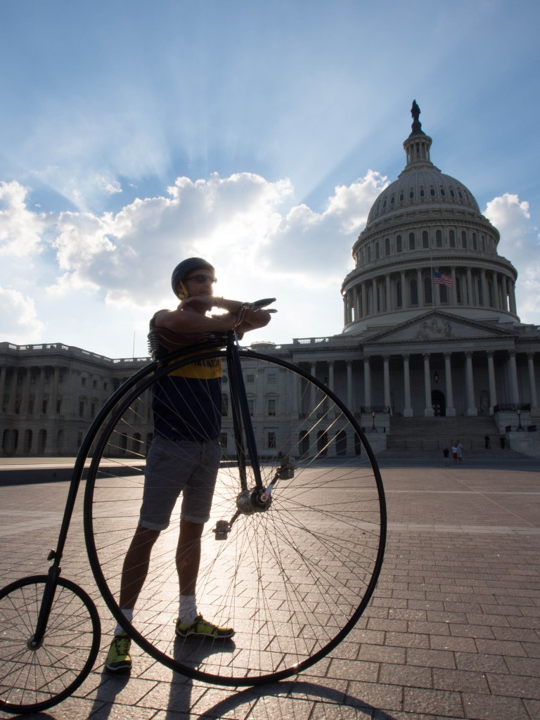 US Capitol, Penny Farthing bike